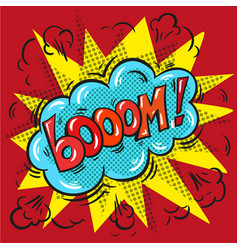 blast booom on a colored background vector image vector image