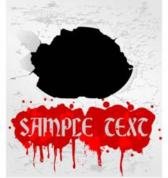 blood text vector image