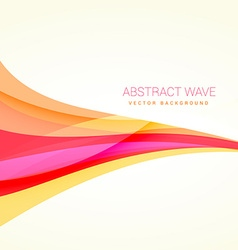 clean colorful wave background design vector image vector image