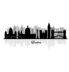 london skyline silhouette vector image