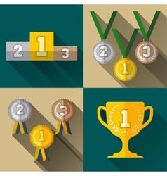 Sport winner signs vector image vector image