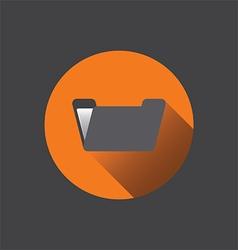 0210o flat folder icon vector