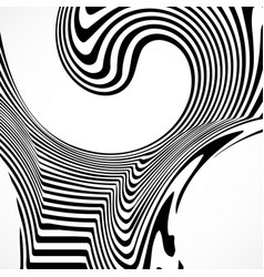 abstract background with black and white striped vector image