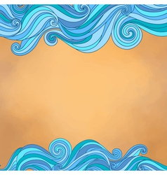 Abstract background with waves paper texture vector