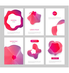 Abstract backgrounds with generative design forms vector