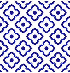abstract flower ceramic pattern vector image