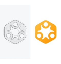 Abstract icon for company with process vector image