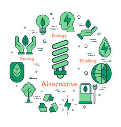 alternative energy source vector image