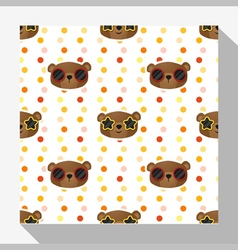 Animal seamless pattern collection with bear 5 vector image