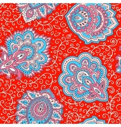 Beautiful Indian floral seamless pattern vector