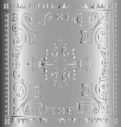 Beautiful Vintage Floral Metal Background vector image