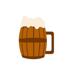 beer barrel glass vector image
