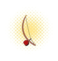 Berimbau percussion instrument icon comics style vector