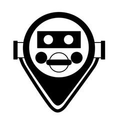 Binocular viewer icon vector