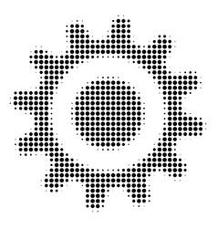 black pixel cogwheel icon vector image