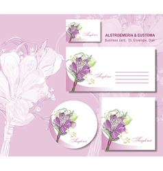 business card envelope vector image