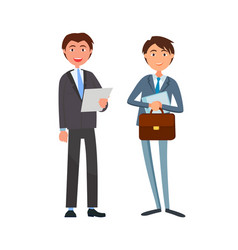 Businessman in formal wear and executive worker vector
