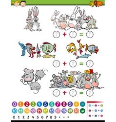 Cartoon mathematical game vector