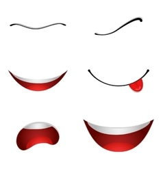 Cartoon mouths set vector
