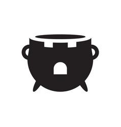 cauldron kitchen castle creative logo icon vector image