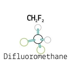CH2F2 difluoromethane molecule vector image