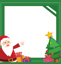 christmas frame with gift design vector image