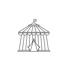 circus icon linear design isolated on vector image