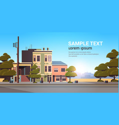 city building houses exterior modern town street vector image