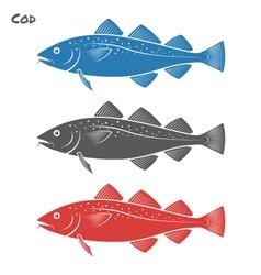 Cod fish vector