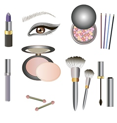 collection of makeup icon for beauty design vector image