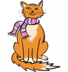 comic cat vector image