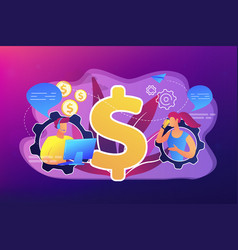 conversational sales concept vector image