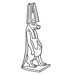 Egyptian god typhon vintage vector