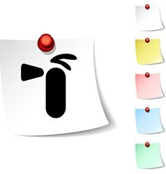 Extinguisher icon vector