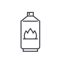 gas line icon sign on vector image