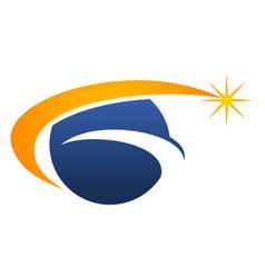 Global solution logo design template vector