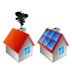 home heating alternative energy sources vector image