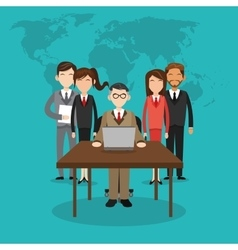 Human resources design People icon Colorful vector