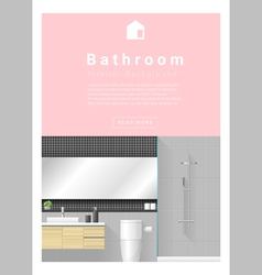 Interior design Modern bathroom banner 1 vector image