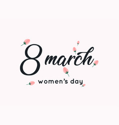 International womens day greeting card 8 march vector