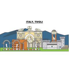 italy tivoli city skyline architecture vector image