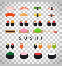 Japanese food sushi set vector
