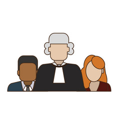 Judge and lawyers vector