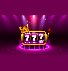 king slots 777 banner casino on purple vector image