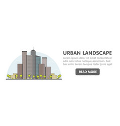 line art modern big city background vector image