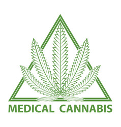 Medical cannabis marijuana logo vector