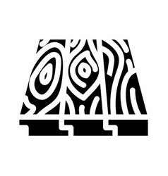 Patterned flooring glyph icon vector