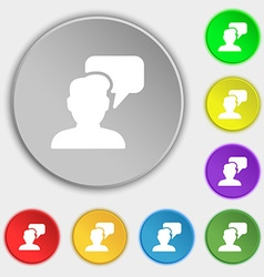 People talking icon sign Symbol on eight flat vector
