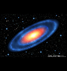 Realistic spiral galaxy on vector
