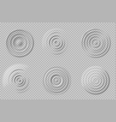 realistic water circles top view round waves vector image